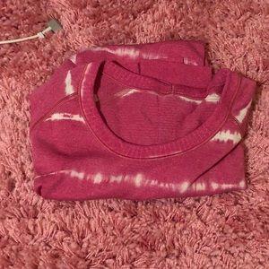 Lululemon Pink Tie Dye Shirt Size 4